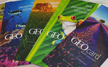 GEO magazine (subscribers membership cards)